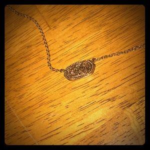 Gold drusy Kendra Scott necklace
